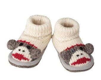 Cute Fleece-Lined Wool Warm Home Slippers For Baby
