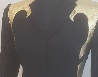 Ladies Jacket, Western Wear,Evening Jacket, Fancy Ladies Jacket, Adorned and Fringed Ladies Jacket, One of a Kind Ladies Jacket,