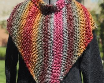 Soft and Light Striped Shawl