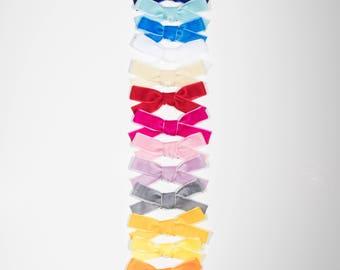 Velvet Ribbon Hair Bow, thick
