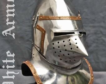 Great bascinet SCA LARP knight helmet steel helmet medieval helmet fantasy helmet SCA helmet   larp helmet armor sca armor larp armor