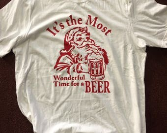 Its the most wonderful time for a Beer Christmas tee shirt t-shirt