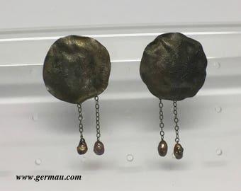 germau sterling silver pearl earrings #20