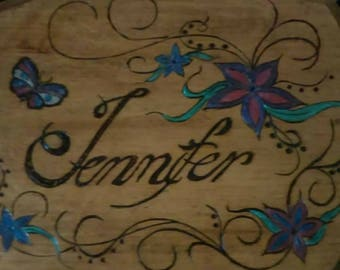 Personalized Woodburned Plaque
