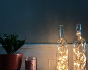 Clear Wine Bottle Light