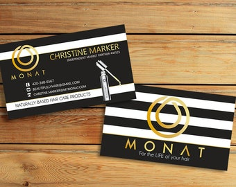 Monat Business Cards - 3,5x2 inches - Printable Business Cards - Monat Hair Care