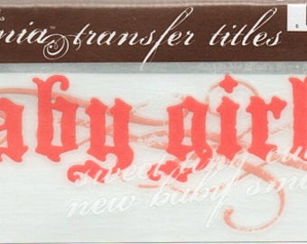 Baby Girl Title Rub On Transfer Embellishments Cardmaking Crafts My Mind's Eye Bohemia