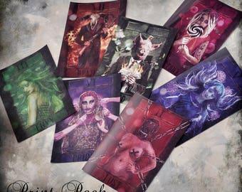 "Seven Deadly Sins Print Pack - 7x5"""