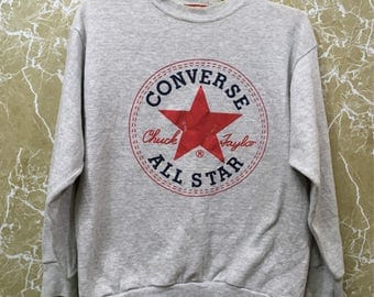 Vintage Converse crewneck sweatshirt jumper casual tennis jacket L size