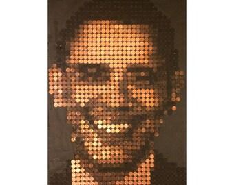 Barack Obama Penny Portrait