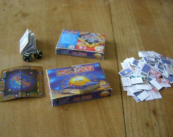 1 monopoly game miniature, Dollhouse, scrapbooking, miniature