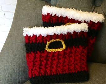 Crochet Pattern - Santa Boot Cuffs, Legwarmers, Snow Guards