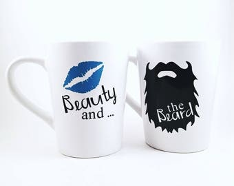 Beauty and the Beard | Wedding Gift | Couples Gift | Anniversary Gift | Funny Couple Gift | Gift for Guy | The Beard | Engagement Gift |