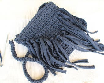 Yarn Bag, Crossbody Bags, Crossbody Tote, Crossbody Tote Bags, Crochet Bag, Cotton Bag, Boho Bag, Blue Tote, Boho Crossbody Bag, Gift Ideas