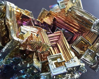 Large 351  Gram Bismuth Crystal Cluster