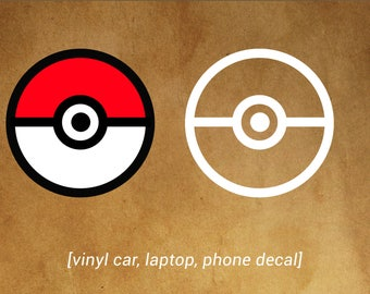 Pokeball POKEMON GO decal - car, laptop, phone decal - Pokemon fans!
