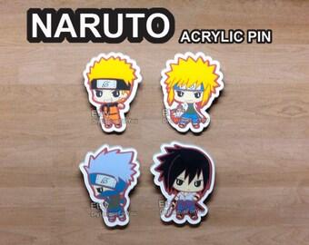 Naruto Acrylic Pins *New listing*