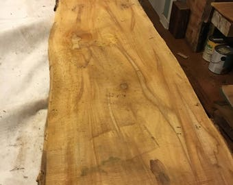 "Beautiful Large Sycamore Slab Aprox 109"" x 16"" - 13"" x 1"""