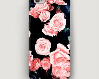 Tea Roses iPhone 6S Case, Floral iPhone 7 Plus Case, Flowers Phone Case, iPhone 5C Case, Galaxy S7 Case, Phone Cover Roses, Apple Case