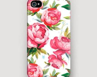 Peonies iPhone 6S Case, Floral iPhone 7 Plus Case, Flowers Phone Case, iPhone 6 Cover, Case iPhone 7, Apple iPhone Case, iPhone 5 Phone Case