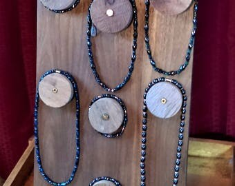 Handmade Jewelry display stand with bullet casings
