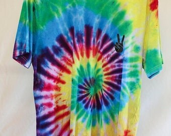 25% OFF ENTIRE SHOP Adult Size lg - Ready To Ship - Unisex - Festival - Tie Dyed - T-shirt - 100 Percent Cotton - Free Shipping within Aus