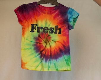 25% OFF ENTIRE SHOP Size 2  - Fresh - Ready To Ship - Girls - Children - Kids - Iced Tie Dyed T-shirt - 100 Percent Cotton - Free Shipping w