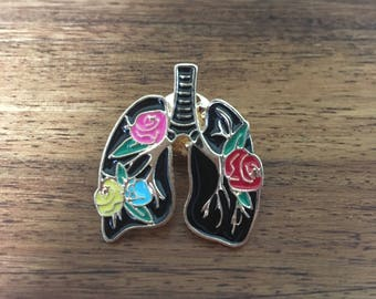 Floral Lungs - Enamel badge