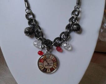 "necklace ""time around the neck"""