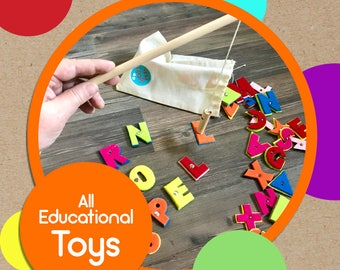 Educational Toys by TinyFeats- Handmade Quality Toys for Baby, Toddler and Preschool Aged Children - Montessori, STEAM, STEM, Autism, Reggio