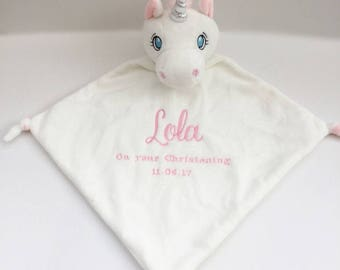 Unicorn Blankie , PersonalisedComforter, Animal, Newborn Gift, Baby Blanket, baby accessories, New Baby Gift, Newborn, Custom Comforter