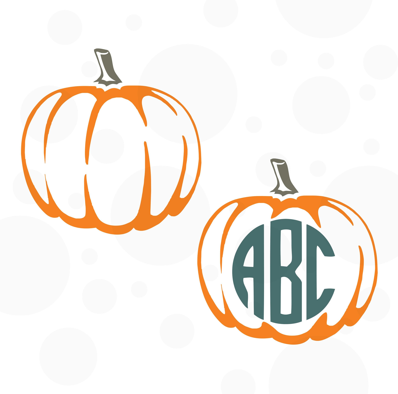 Pumpkin Pumpkin Monogram SVG Thanksgiving SVG Pumpkin