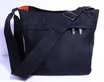 Virine dark naby/black cross body bag, messenger everyday shoulder handbag,...