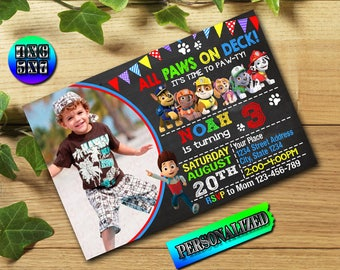 Paw Patrol Invitation / Paw Patrol Birthday / Paw Patrol Party / Paw Patrol Invite / Paw Patrol Printable / Paw Patrol Birthday Invitation