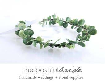 Dainty eucalyptus crown, eucalyptus wreath, greenery wedding, greenery crown, eucalyptus wedding, bohemian crown, greenery wreath, artificia