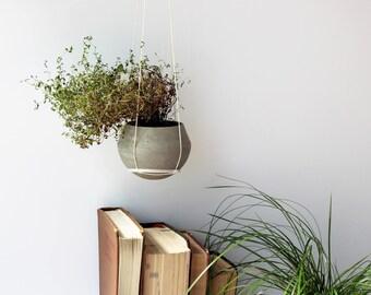 Hanging Planter, Big Concrete Planter, Concrete Hanging Pot, Wall Planter, Planter, Succulent Planter, Gift For Her, Home Decor, Concrete