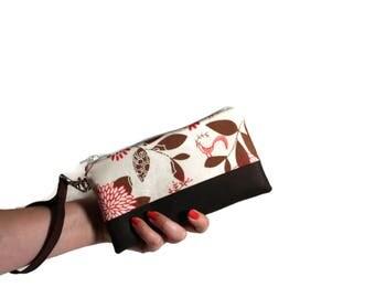 Phone Wristlet Clutch, Bird Phone Wristlet, iPhone Wristlet, iPhone 7 Case, iPhone Wristlet, Clutch Purse