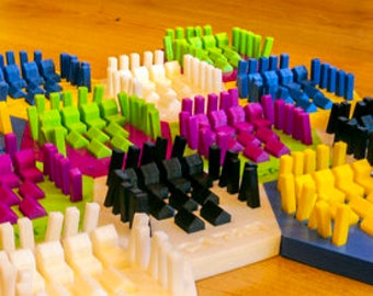Settlers of Catan Game Piece Holders   Catan Organizer   Catan Game Pieces   Catan Organizer   Catan Board Game   Box Organizer