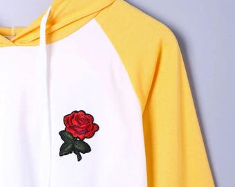 Beatiful Embroider FLOWER PATCH IRON.