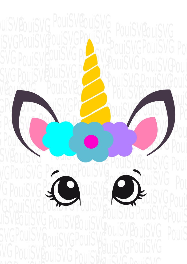 Unicorn Svg Magical Horse Svg Unicorn Head Ice Cream