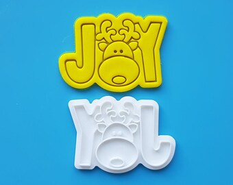 Joy with Rudoloph Cookie Cutter and Stamp
