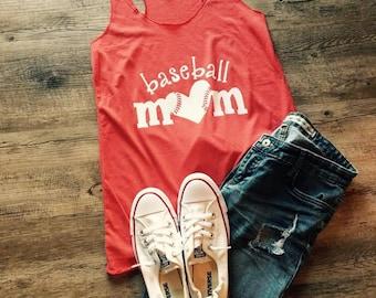 Baseball Mom Razor Back Tank Top