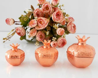 Rose gold wedding,party gift box ideas, luxury wedding favors, pomegranate favor boxes, unique wedding ideas, wedding favour box, rustic box