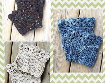Boot Cuffs Crocheted in 35 colors and 4 sizes and also can be customized