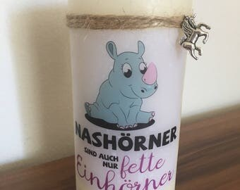 Unicorn candles, pillar candles, candles with sayings, funny candles, Unicorn, Unicorn