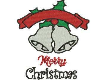 10 Size Merry Christmas Embroidery Designs Instant Download 8 Formats machine embroidery pattern