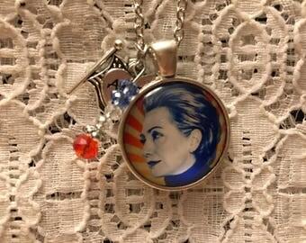Hillary Clinton Charm Necklace/Hillary Clinton/Hillary Clinton Jewelry/Democrat Jewelry