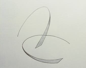 Original Pencil Abstract Drawing Pencil Art Minimalist Art Modern Abstract Art Unique Gift Minimalist Gift by Maria Bukharova