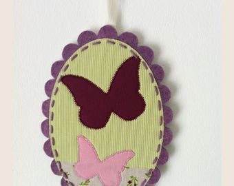 painting butterflies fabric