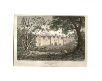 Gosfield Hall 1804 Antique Engraving